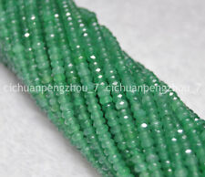 Natural Faceted 2x4mm Emerald Gemstone Rondelle Loose Beads Strands 15inch
