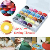 US. Sewing Machine 25 Piece Thread Set Sewing Machine Spool Bobbin Set Kit Reel
