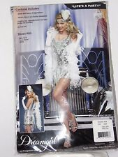 Size Large Women's Silver 20s Flapper Dress Sexy Costume Cosplay Halloween Dance