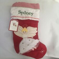 "Pottery Barn Kids Blonde Angel ""Sydney"" Christmas Quilted Stocking NWT"