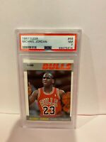 1987 Fleer Michael Jordan Chicago Bulls HOF Basketball Card PSA NM 7 #59
