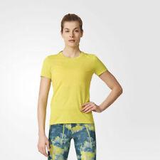 T-shirt, maglie e camicie da donna a manica corta gialli con girocollo