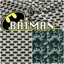 COTTON BATMAN FABRIC Licensed DC Logo 100% Cotton Dress Craft Fabric by Metre