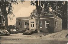 Post Office in Meredith NH Postcard 1947