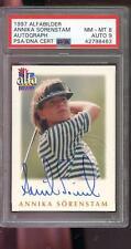 1997 Alfabilder Annika Sorenstam Rookie Golf AUTO Autograph Card PSA 8 PSA/DNA 9