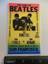 """3.25"""" The Beatles Concert Poster STICKER. Great for your glass bong or pipe:)"""