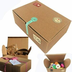 CHILLY Treat Gift Boxes, Set of 10 Bakery Boxes Decorative Cupcake Cookies 37