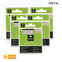 """1pk White on Clear Tape Label Compatible for DYMO 53720 D1 24mm 1/"""""""