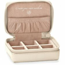 NWT Brighton B WISHES MINI JEWEL CASE Jewelry Holder Pearl White Leather MSRP$42