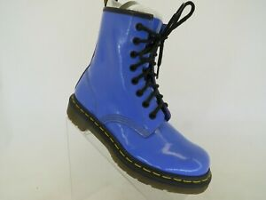 Dr. Martens Blue Patent Leather Laces Ankle Fashion Boots Bootie Size 6 M