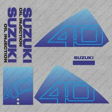 Suzuki DT40 40HP Two stroke Outboard Engine Decals Sticker Set reproduction
