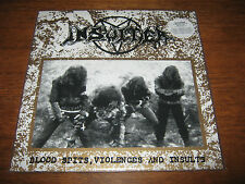 """INSULTER """"Blood Spits, Violences and Insults"""" LP  sarcofago sextrash holocausto"""