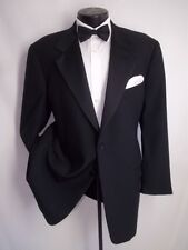 Valentino Black 2 Buttons Wool Tuxedo Jacket, Coat 44 Regular