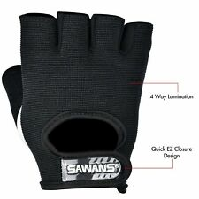 Leather Half Finger Fitness Cycling Gloves Bicycle Sports GYM Weight Lifting UK