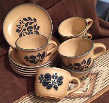 HEY 👋 FOLKS L👀K!!! Pfatlzgraff Retired Pattern Folk Art, 6 cups & saucers
