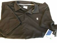 New Black Izod Golf Polo Shirt Sun Control UPF-15 Men's Large Same Day Ship