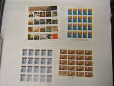 Lot of 4 US MNH Sheets 1990s Breast Cancer Benet Organ Donation American Art BR