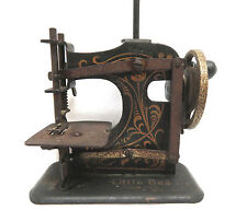 """Antique Muller Germany """"Little Beauty"""" Childs Toy Hand Crank Sewing Machine"""