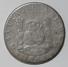Rare 1768 Spanish Milled Pillar 8 Reales Silver Coin Charles III Mexico City VF+