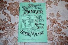 Rare 1889 Singer Sewing Machine VS-2, Vibrating Shuttle II, Instruction Manual