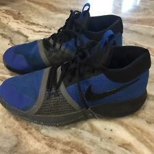 Nike Zoom Assersion Boys size 5 Royal Blue Black Gray Basketball shoes