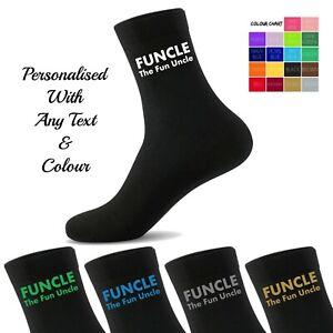 Personalised Novelty Socks - Funcle the Fun Uncle Socks - UK Gift Socks Men's