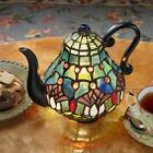 TF10042 - Victorian Teapot Tiffany-Style Stained Glass Illuminated Sculpture