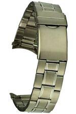 Edelstahl-Uhrarmband Rundanstoss Sicherheitsfaltschliesse 20 mm Uhrband