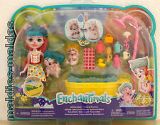 Enchantimals Petya Pig, Streusel & Nisha Badespass GJX36 NEU/OVP