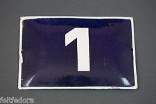 1950 VINTAGE PORCELAIN ENAMEL TIN SIGN HOUSE STREET DOOR GATE ENTRANCE NUMBER 1