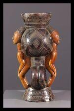 LUBA JANUS CUP AFRICAN TRIBAL ART AFRICAIN ARTE AFRICANA AFRIKANISCHE KUNST **