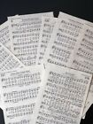 Sheet Music Pages LOT For Crafting 50 Sheets from Old Hymnal 8 x 5 1/2