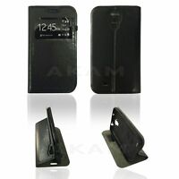 PU Leather Window View Flip Stand Book Case Cover For Samsung Galaxy S4 i9500