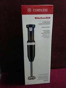 KitchenAid Cordless Hand Blender Variable Speed-- Matte Black   KHBBV53BM )