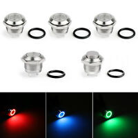 Mini 12mm 12V LED Stainless Steel Momentary Push Button Switch For Car/Boat BK