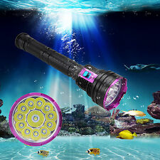 T6 LED Diving Flashlight Dive Light Torch Underwater 100m 18650/26650 Chargeable