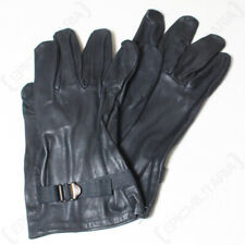 Original Belgian Army Leather Gloves - Black - High Quality - Surplus - Winter
