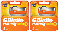 Gillette Fusion5 Power for Men - NEW 2 x Pack of 4= 8 !!NEW YEARS SALE!!