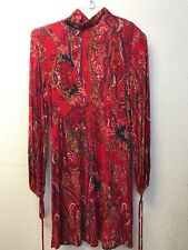 NWT Free People Womens All Dolled Up Dress Mini Scarlet Combo Red M