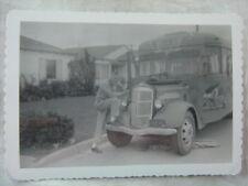 Vintage Photos Man w/ Bus circa 1937 REO Speedwagon Truck 828