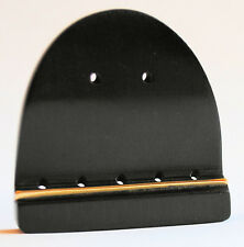 BANJO TIE-ON TAILPIECE-TRADITIONAL DESIGN FOR NYLON STRINGS-HAND MADE FROM EBONY