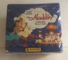 Sealed Box Panini Packs of Aladdin Trading Cards 100 X Story Cards Stickers