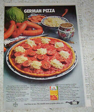 1973 print ad- Chef Boy-Ar-Dee PIZZA German recipe sauerkraut VINTAGE ADVERT