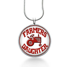 Farmers Daughter Necklace, Farm Pendant, tractor ,gifts for women,jewelry