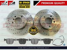FOR BMW E60 E61 535 535D M SPORT REAR PERFORMANCE DRILLED BRAKE DISCS PADS WIRE