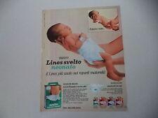 advertising Pubblicità 1982 PANNOLINO LINES SVELTO