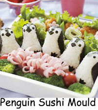 Penguin Sushi Mould Maker Press Rice Ball Mold Bento Cutter Healthy Kids Lunch