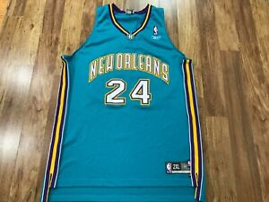 MENS 2XL - Vtg NBA Charlotte Hornets #24 Jamal Mashburn Reebok Sewn Jersey
