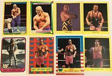 1987 Topps Bret Hart Rookie Card  Lot  + 1992 Merlin Owen Hart Rookie WWF Trivia