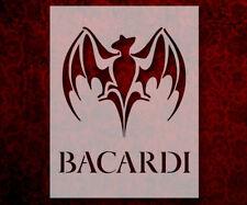 """Bacardi Rum 8.5"""" x 11"""" Custom Stencil FAST FREE SHIPPING (649)"""